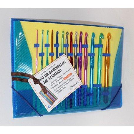 Kit Ganchillos Aluminio Colores Mondial
