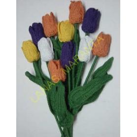 Tulipán de ganchillo