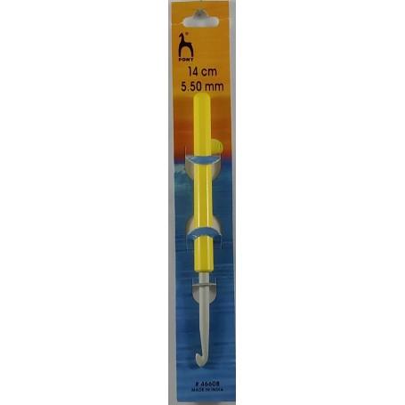Ganchillo Pony 14cm con Mango redondo 5.50mm