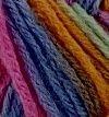 Violeta 08 multicolor con rosa y granate