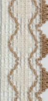Guadalupe 102 marfil con borde beige