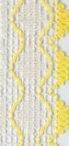 Guadalupe 103 marfil con borde amarillo