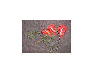Anthurium Blume häkeln